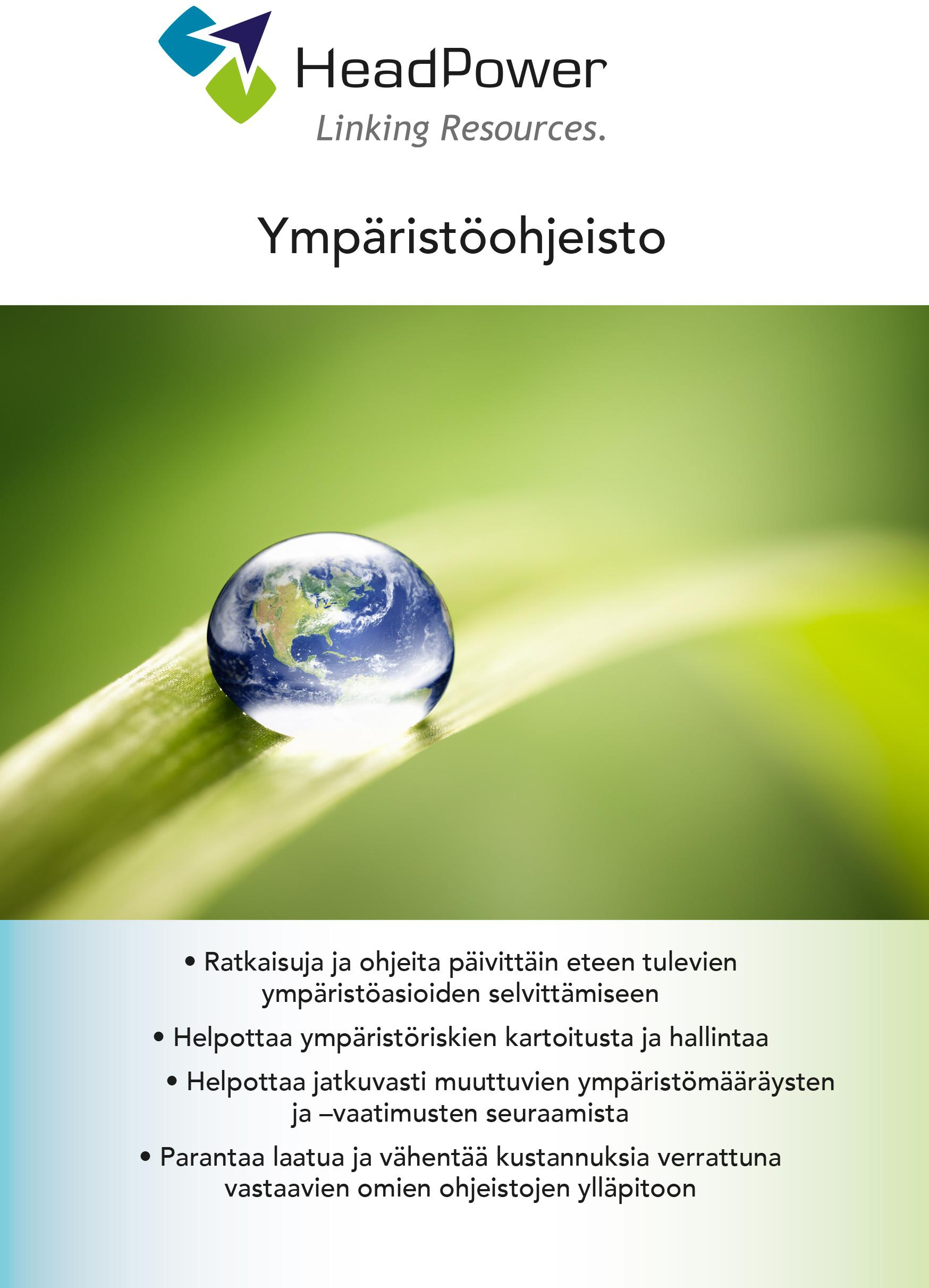Ympäristöohjeisto -esite